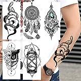 5 Piezas De Tatuajes Temporales De Mano De Serpiente Creativa Tatuajes De Búho Falso Tatuajes De Flores De Mandala A Prueba De Agua Para Arte Adulto