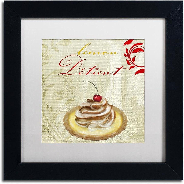 Trademark Fine Art Tartes Francais  Lemon by color Bakery, White Matte, Black Frame 11x11, Wall Art