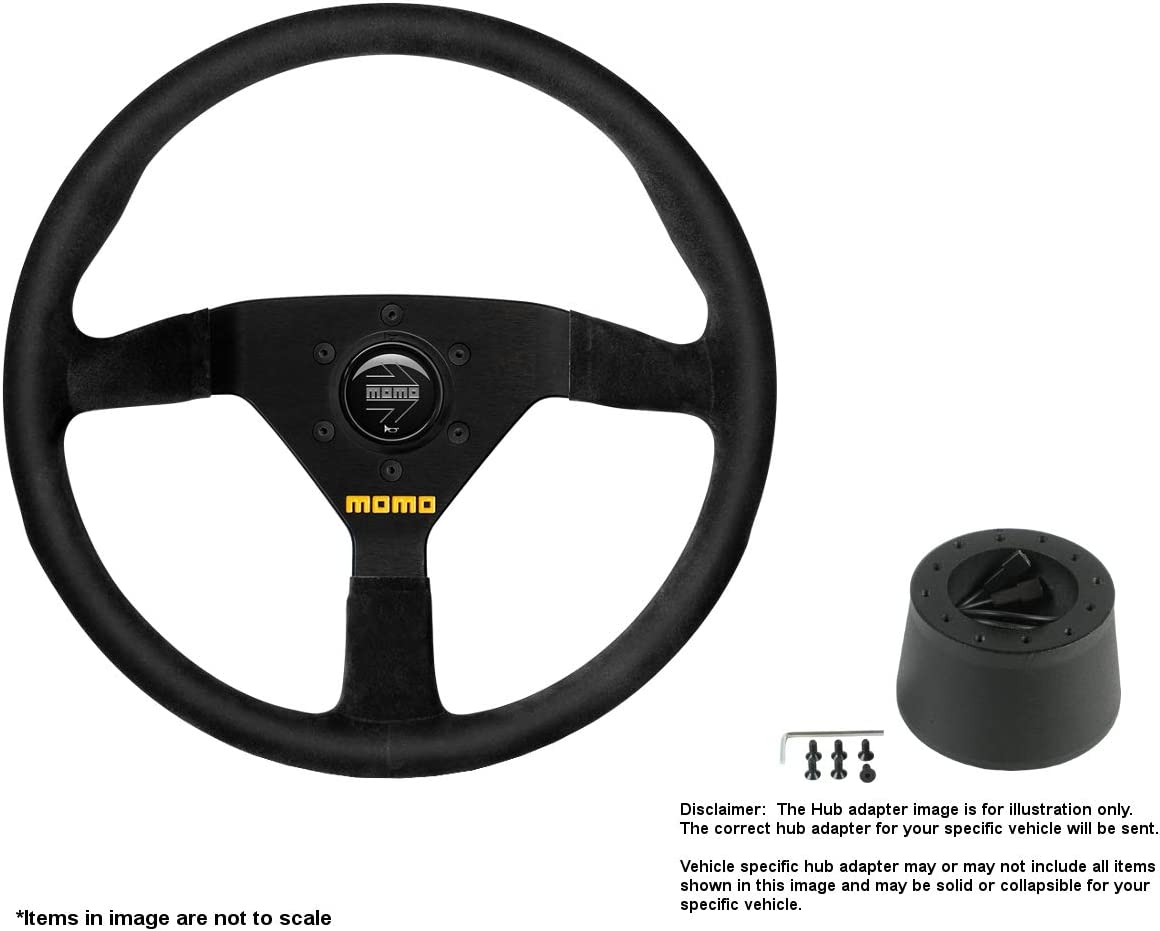 MOMO MOD.78 320mm Today's only 12.6 unisex Inches Suede Steering Brushed w B Wheel