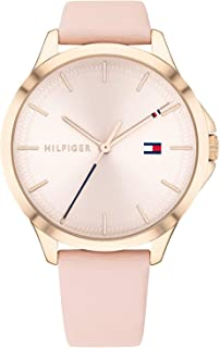 Tommy Hilfiger 1782090 Womens Quartz Watch, Analog Display and Leather Strap, Rose Gold