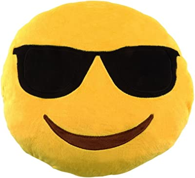 Amazon.com: Sealive 36cm Emoji Pillow Cool Sunglasses, Large ...