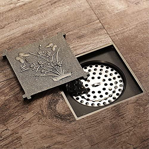 GPWDSN Baño Desodorante antiinsectos Bronce Totalmente Bronce Inodoro Cocina Desagüe de Piso Universal