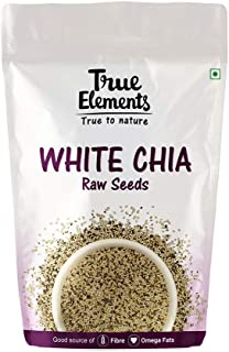 True Elements Raw White Chia Seeds 500g - Chia Seeds for Weight Loss, Diet Food