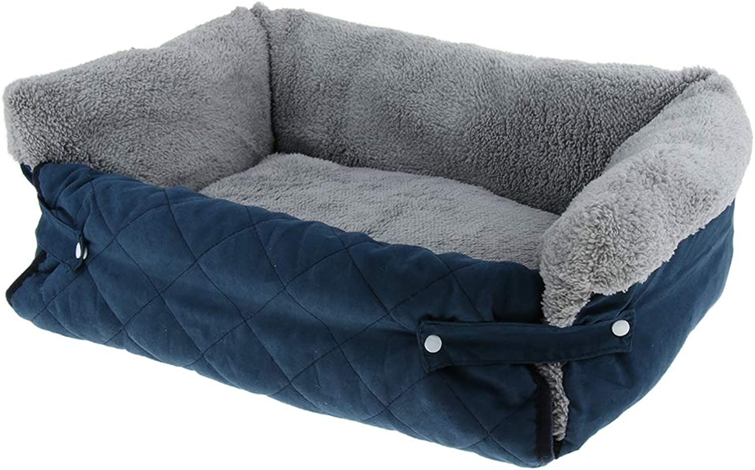 B Blesiya New Cat Dog Puppy Kennel Pet Sofa Nest Winter Warm Sleeping Pad Home Comfortable Pet Bed  bluee L