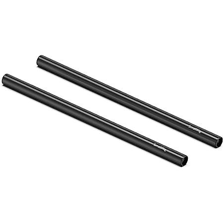 SMALLRIG Asta in Lega di Alluminio, Diametro 15 mm, Lunghezza 30 cm, Nero- 1053