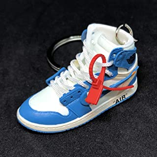 Air Jordan 1 I High Retro Off White UNC Blue OG Sneakers Shoes 3D Keychain Figure …