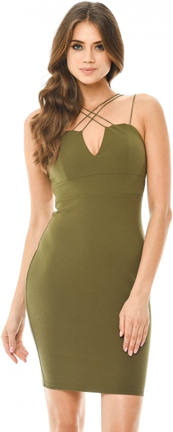 AX Paris Women's Spaghetti Strap Bodycon Dress
