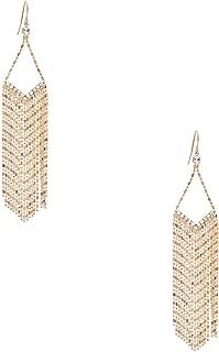 GUESS Factory Women's Gold-Tone Beaded Rhinestone Earrings, NS