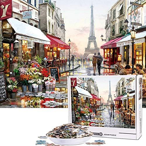 Cuteefun Puzzle per Adulti 1000 Pezzi Puzzle Paesaggio Puzzle Parigi Romanticae Puzzle per Bambini Decompressione e Regalo