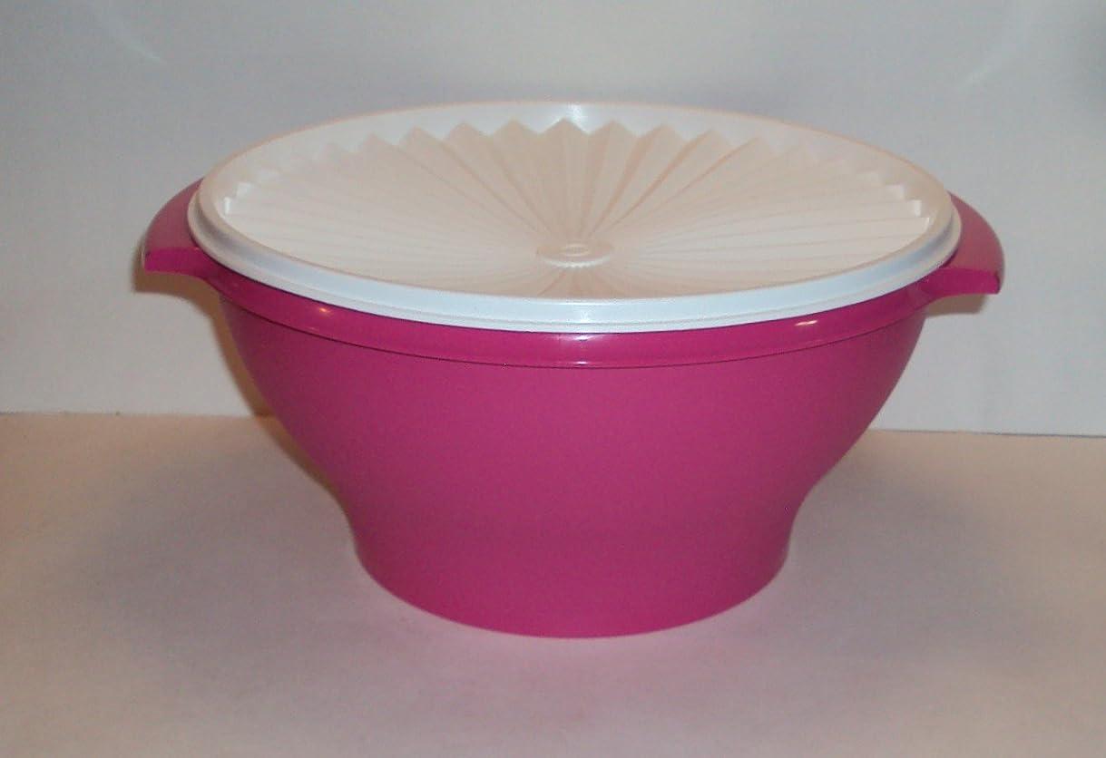 家庭教師エンジニアリング明快Tupperware 17?Cup ServalierサラダServing Bowl in Fuchsiaピンク