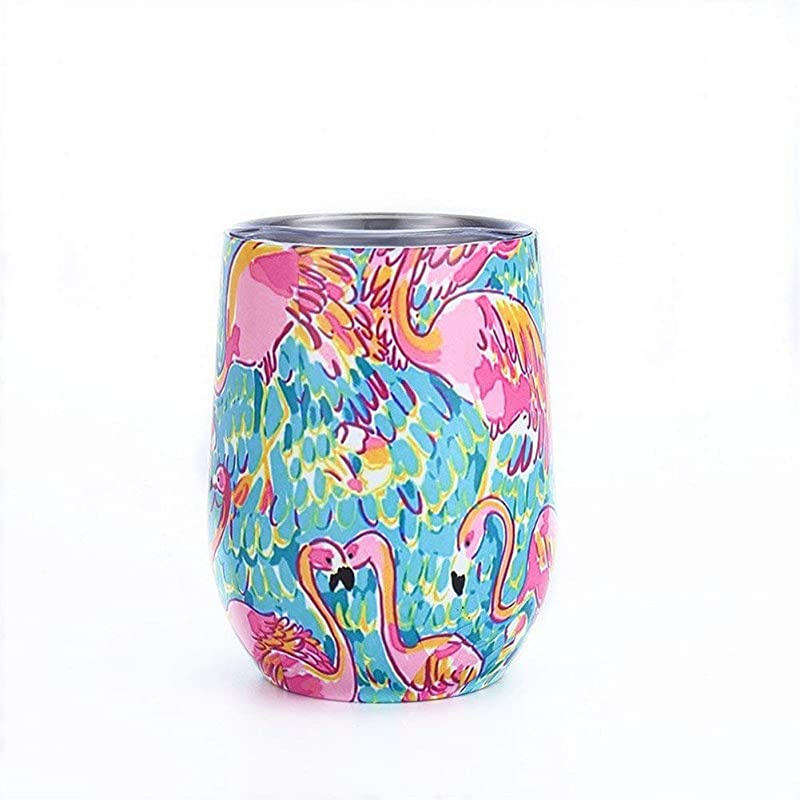 9oz Flamingo Tumbler 9oz Egg Cups Wine Glass Double Wall Stainless Steel Vacuum Insulated Drinking Coffee Mugs Type O1