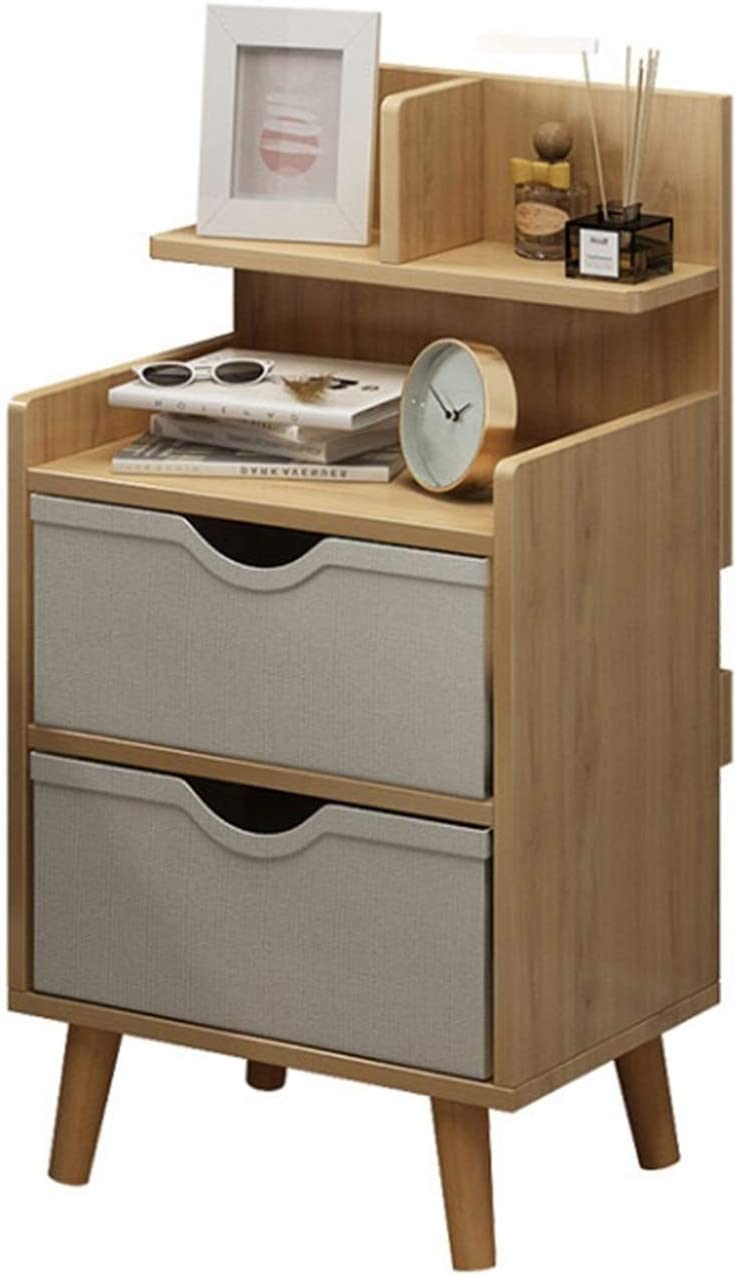 ZHONGTAI Bedside Table Max 63% OFF 2 Nightstand S Drawers Challenge the lowest price with
