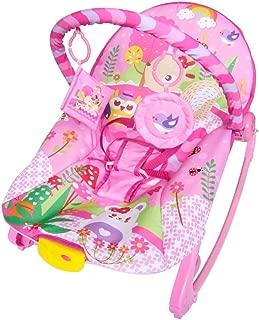 Cadeira de Descanso Musical Vibratória e Balanço New Rocker Color Baby Rosa