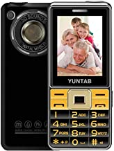 YUNTAB Easy to Use 2G Unlocked Cell Phone for Seniors, Kids and Hearing Difficulty Person, Big Button Big Fonts Big Volume, 2.4 inch Anti-Fall(Black)