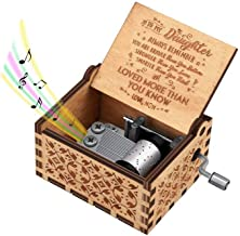 FQMY You are My Sunshine Wood Music Boxes,Laser Engraved Vintage Wooden Sunshine Musical Box Gifts for Birthday/Christmas/Valentine's Day (Mom to Daughter)