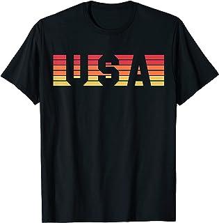 USA Retro Sunset Color T-Shirt
