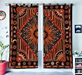 Burning Sun Hippie Gypsy Home Decor Window Treatments & Valance Bedroom Decor Living Room Decor Handmade Wall Hanging Boho Door Cotton Bohemian Mandala Tapestry Curtain Balcony Sheer Room Divider