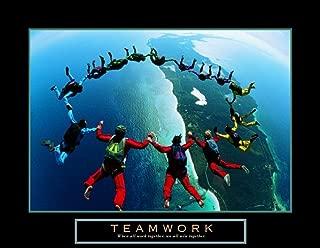 Teamwork Skydiving Ring Motivational Poster Inspirational 16x13 Art Poster Print, 16x13 Collections Art Poster Print, 16x13