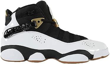 Jordan 6 Rings White/Black-Metallic Gold (Big Kid)