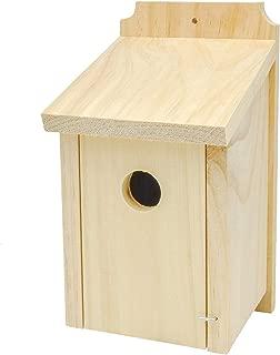 Gardirect Wild Bird Classic Nesting Box, Bird House for Blue Tit, Sparrow (Pine)