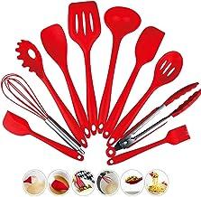 Shopnic 10pcs Kitchen Utensil Set - Silicone Kitchenware Cooking Utensils - Non Stick Cooking Turner Tong Baking Brush Spa...