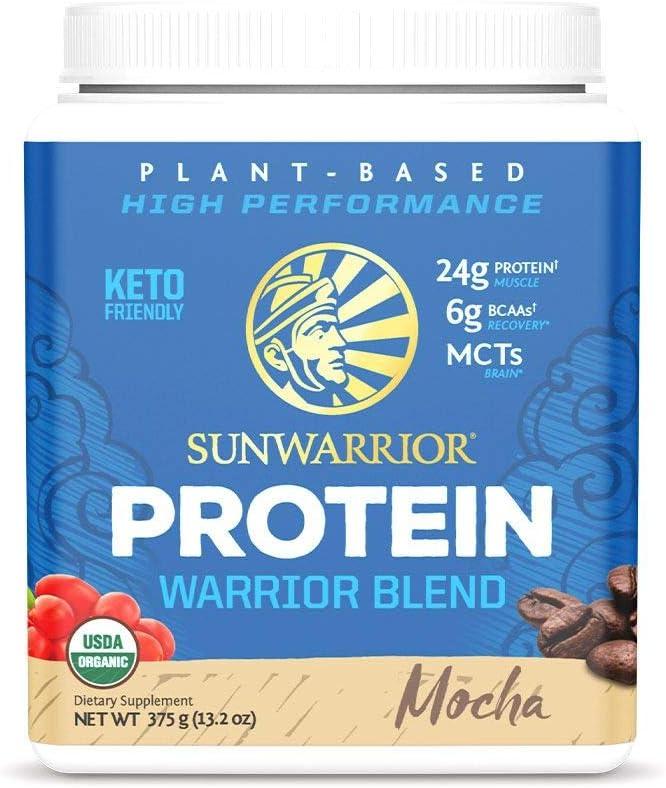 Long Beach Mall Sunwarrior Warrior Blend - Organic wi Powder Protein Vegan Bombing free shipping Plant