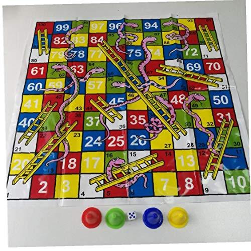 Tablero de ajedrez de la Serpiente y la Escalera de Vuelo Juego Jogos Juegos Oyun Familia Fiesta Juegos y Juguetes para Adultos para niños