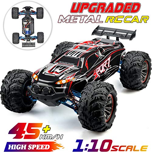 Upgraded Metal 1:10 Scale 45km/h RC Truck 4WD Off-Road RC Car 2200mAH Battery Remote Control Monster Truck
