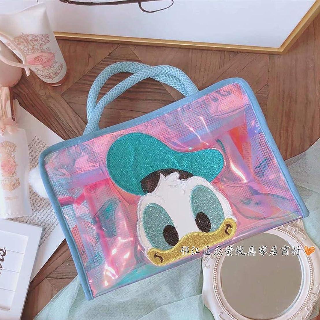 商人凝視表向き女性のハンドバッグ、女性の化粧をするために、レーザー洗浄バッグ、フィットネスバッグ, 大きいサイズのドナルドダック