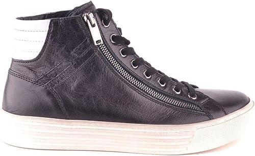 Hogan Homme MCBI29268 Noir Noir Cuir paniers Montantes  magasin en ligne