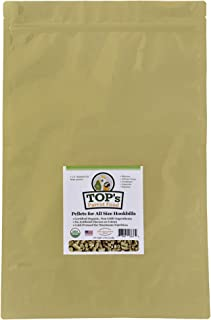 TOP's Parrot Food Pellets Hookbills, Small, Medium and Large Parrots - Non-GMO, Peanut Soy & Corn Free, USDA Organic Certified