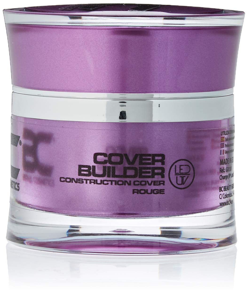 BC Bernal Cosmetics BC Cover Builder Gel Rouge - LED/UV - 15ml - (Constructor Cover Rouge) - 1 Unidad