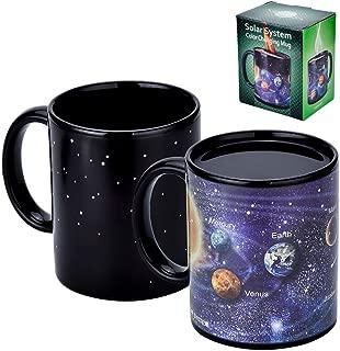 Antner Magic Coffee Mug Solar System Ceramic Heat Sensitive Color Changing Cup,12 oz