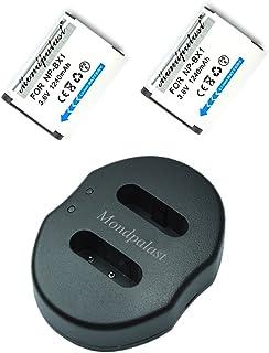 Mondpalast @ 2x Reemplazo Baterías NP-BX1 NPBX1 npbx1 1240mAh + 1x USB Cargador Doble para Sony W300 RX100 RX100 II MK III IV HX50V RX1 RX1R FDR-X1000VR HDR-AS200VB HDR-AS200VR DSC-RX1R II