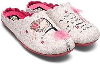 Slippers - Scarpe da ballerina ecrù, da donna, invernali, autunno, inverno