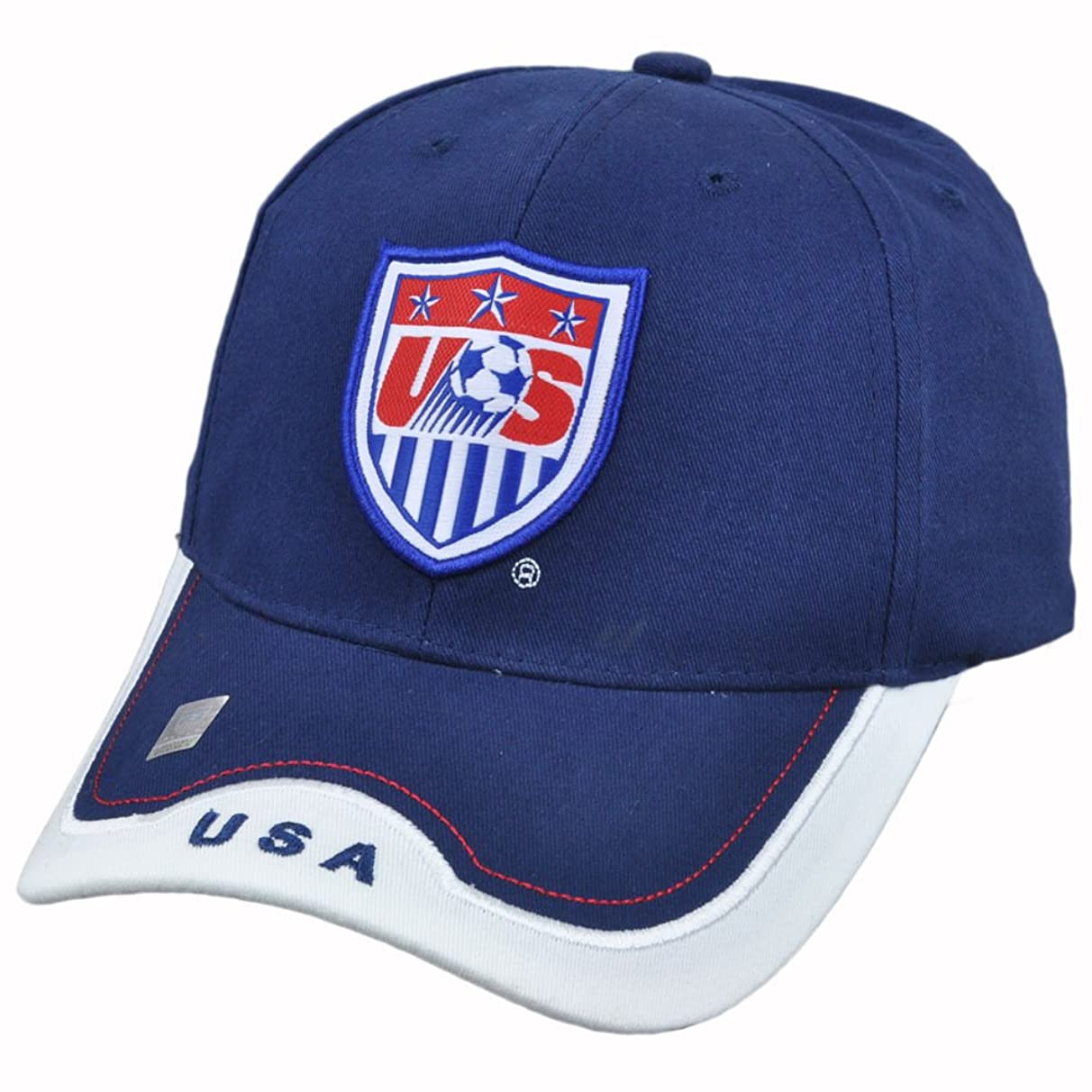 USA 2014 Team Patch Navy Bent Brim Adjustable Buckle Hat / Cap