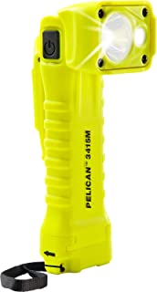 Pelican 3410 Right Angle LED Flashlight - with Magnetic Clip (Yellow)