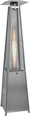 Hanover HAN102SS 7 ft Modern Pyramid Propane Patio Heater, 7', Stainless Steel
