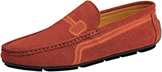 XFQ Mocassins Hommes, Flats Slip sur Moccasin Légère Non-Slip Auto Chaussures Casual Chaussures De Marche Respirant Grande...