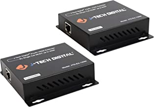 J-Tech Digital ProAV Hdmi Extender Over TCP/IP Ethernet/Over Single Cat5e/cat6 Cable 1080p with IR Remote - Up to 400 Ft