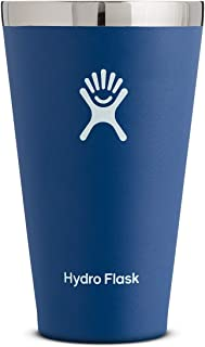 Hydro Flask 16 oz True Pint Cup for Beer or Cider - Stainless Steel & Vacuum Insulated - Stackable & Shatterproof - Cobalt