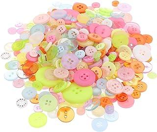 Wakauto Botões de resina com 4 furos, botões de costura redondos, botões decorativos para artesanato, botões de pintura