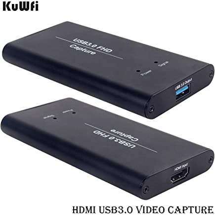 Zerone Game Capture HD video capture HDMI to USB3.0 One-button Recording Box Recorder Adapter The HDMI pass-through function guarantees smooth HD gaming