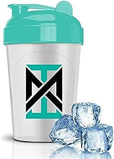 MIXT Energy Shaker Bottle   16 oz. High Quality Shaker Bottle   BPA Free & Lid Mixing Technology (16 oz, Teal)