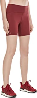 CRZ YOGA Women's Naked Feeling High Rise Workout Sports Running Shorts with Zip Pocket - 6 inch