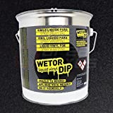 Spray pintura vinilo removible - Wetor Dip - Negro metalizado - 4 L