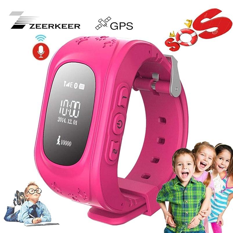 Smart Watch for Kids-ZEERKEER GPS Tracker Smart Watch Pedometer with SOS Call Anti-Lost Alarm Remote Monitor GPS/LBS Locator Smart Bracelet Best Gift for Girls Children boy (Q50) (Pink) aafagdcr938530