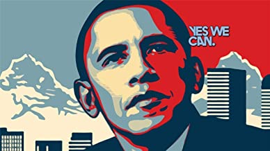 186194 Barack Obama YES WE CAN President Election USA Decor Wall 36x24 Poster Print