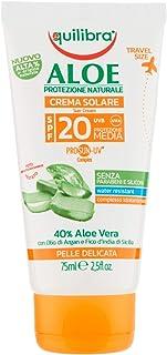 Equilibra Aloe Crema Solare Spf 20 Travel Size, 75 ml