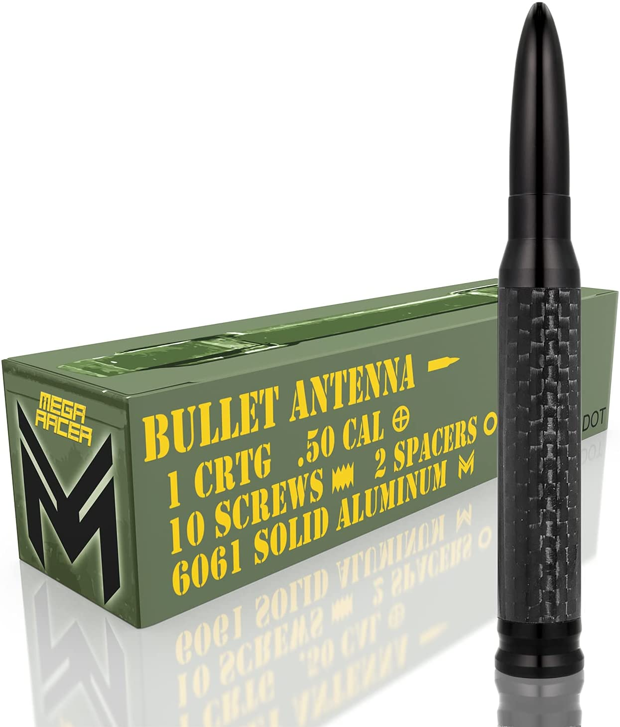Mega Racer 50 Cal Bullet Style Antenna - 5.5